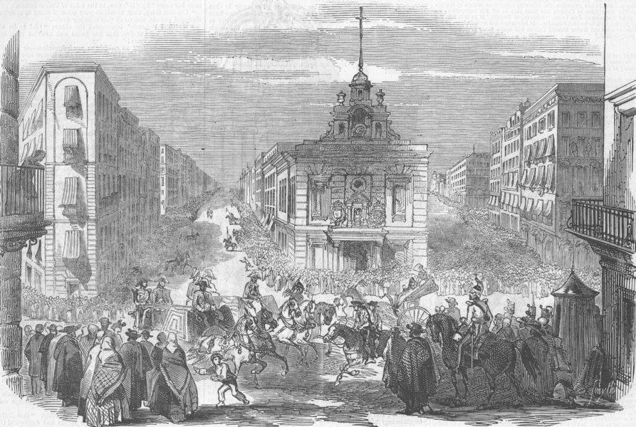 Associate Product SPAIN. Puerta Del Sol, antique print, 1846