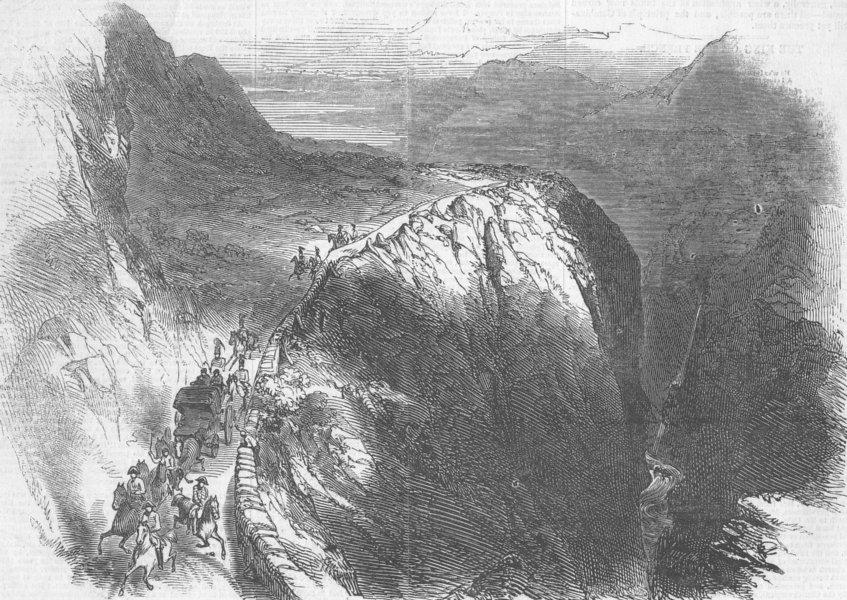 Associate Product FRANCE. Duke de Montpensier crossing Pyrenees, antique print, 1846