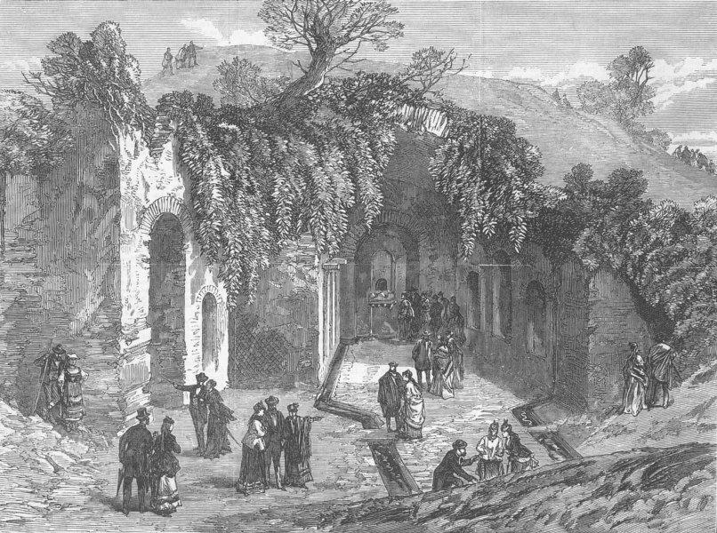 Associate Product ITALY. Fountain of Egeria, Rome, antique print, 1870