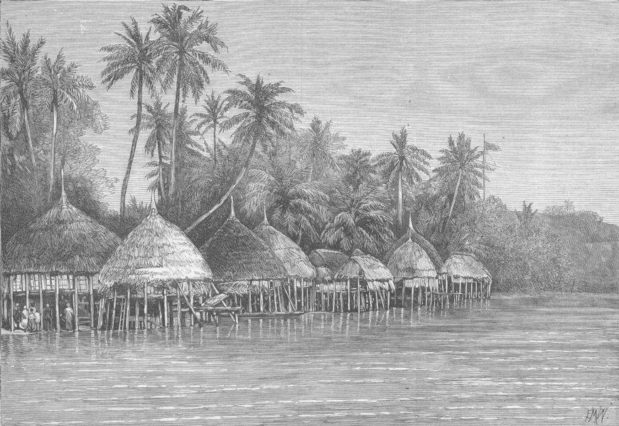 Associate Product INDIA. Nicobar Islands. Mala, Point Mayo, Nancowry, antique print, 1870