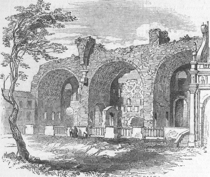 Associate Product ITALY. Basilica of Constantine, antique print, c1870