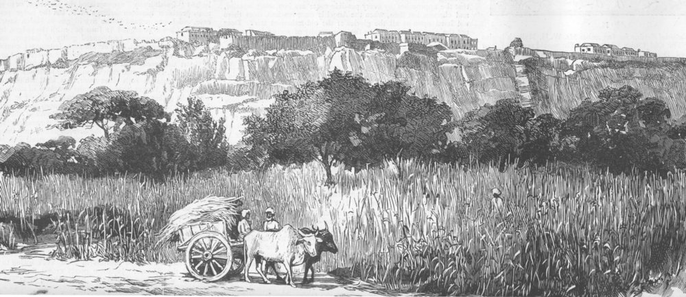 Associate Product INDIA. The Gwalior. The Fort, antique print, 1885