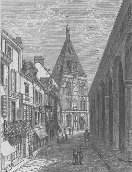 Associate Product FRANCE. St, Dreux, antique print, 1870