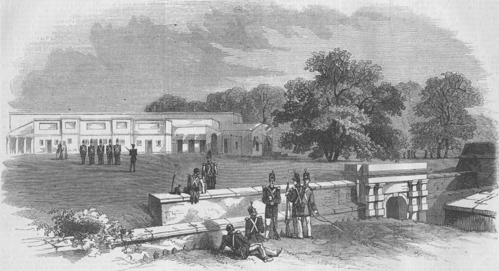 Associate Product INDIA. Gateway of Ft William, Kolkata, antique print, 1857
