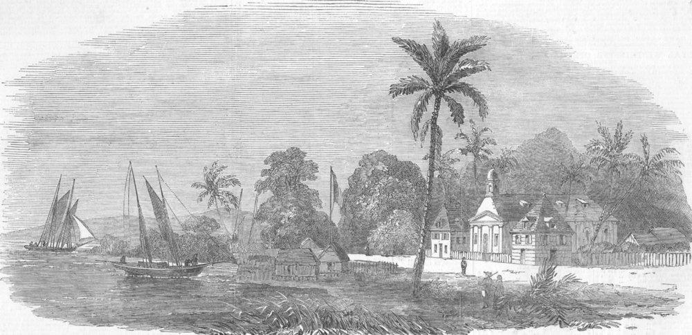 Associate Product FRANCE. Kourou, French Guiana, antique print, 1852