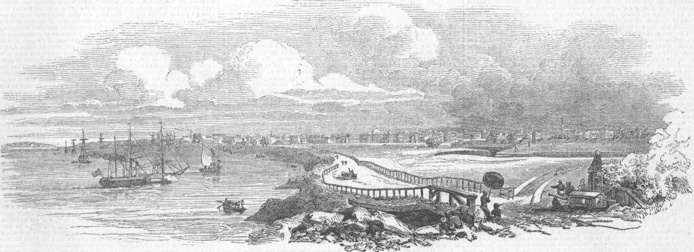 Associate Product INDIA. Kolkata-Arrival of New Gov-General, antique print, 1844