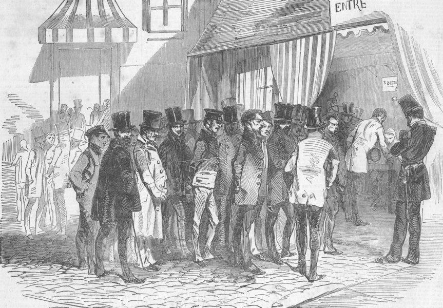 Associate Product FRANCE. Coup. Presidential Election, Paris. Voting, antique print, 1851