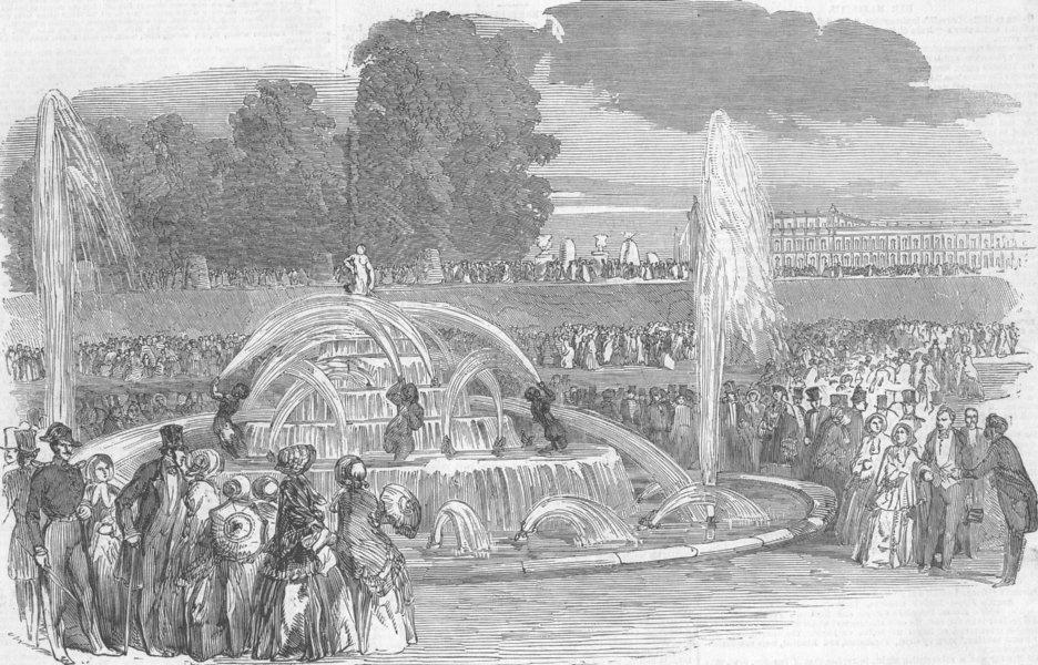 Associate Product FRANCE. Coup. Versailles-Gdns Eaux-Bassin de Latone, antique print, 1851