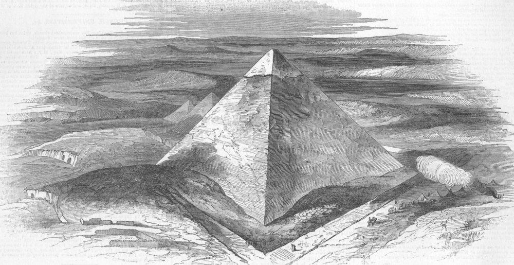 Associate Product EGYPT. Pyramids of Giza, antique print, 1844