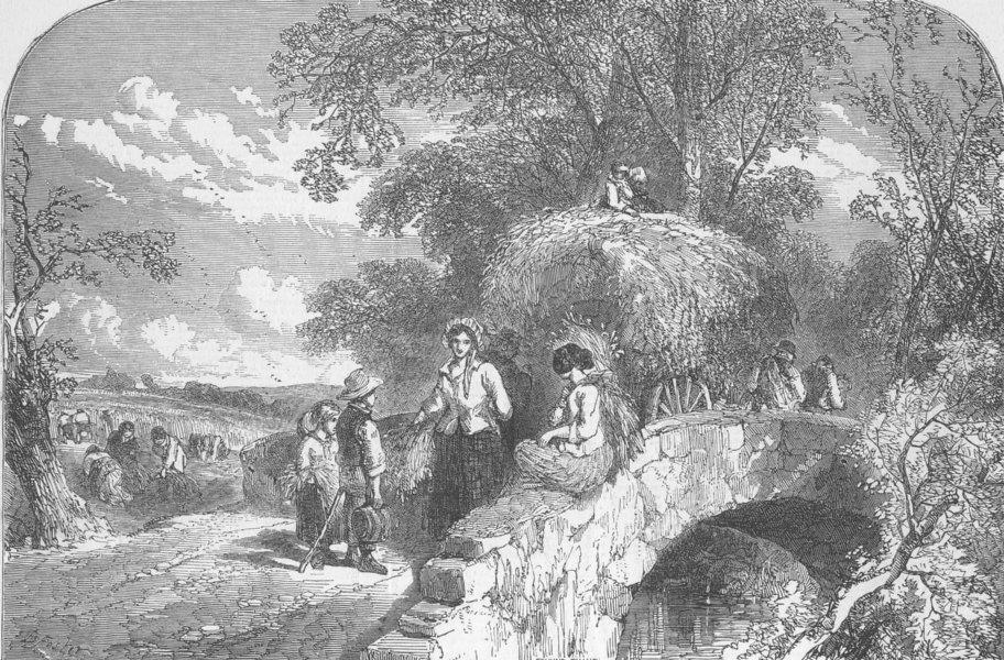 Associate Product LANDSCAPES. An Autumnal Lyric. Autumn, antique print, 1849