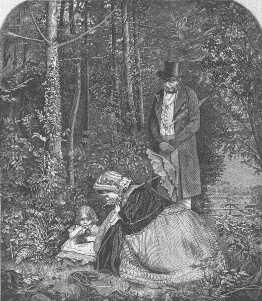 Associate Product CHILDREN. 1862 int'l Exhibition. wanderer, antique print, 1862