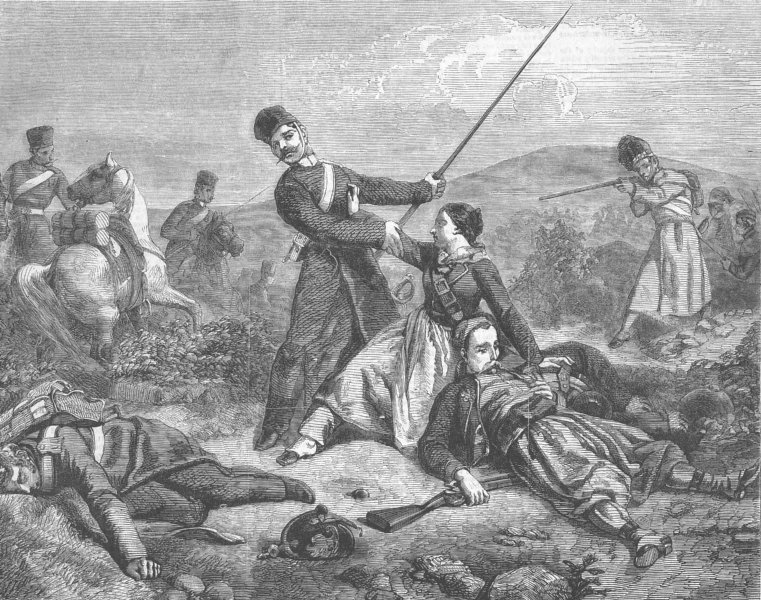 Associate Product MILITARIA. Incident, present war, antique print, 1856