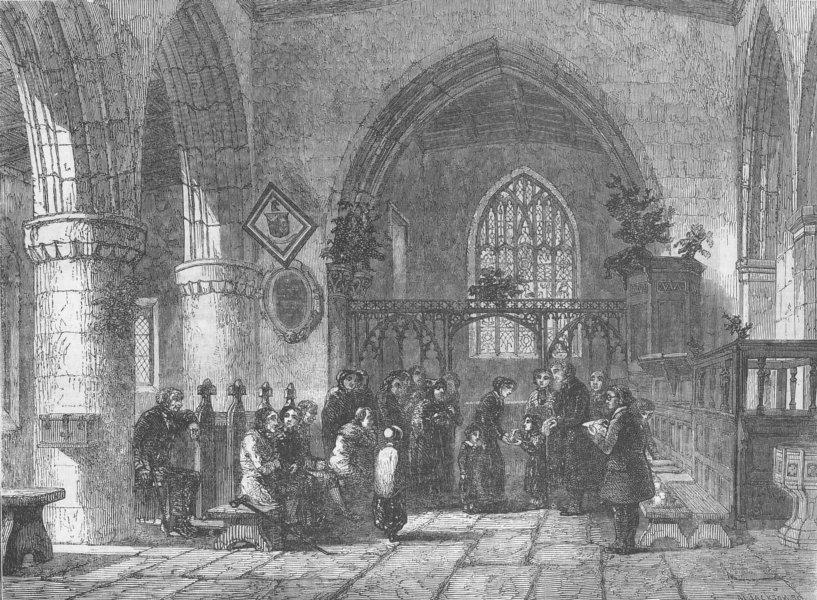 Associate Product FRANCE. The Christmas Dole, antique print, 1854