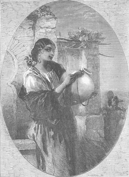 Associate Product SPAIN. The Spanish gipsy, antique print, 1856
