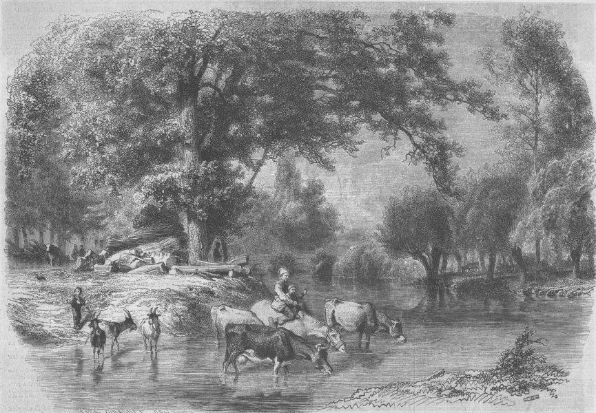 Associate Product FRANCE. Landscape, Touraine by Girardet, antique print, 1855