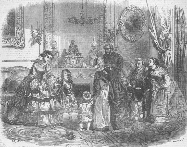 Associate Product FRANCE. Paris Expo. New Year's gifts, Paris, antique print, 1855