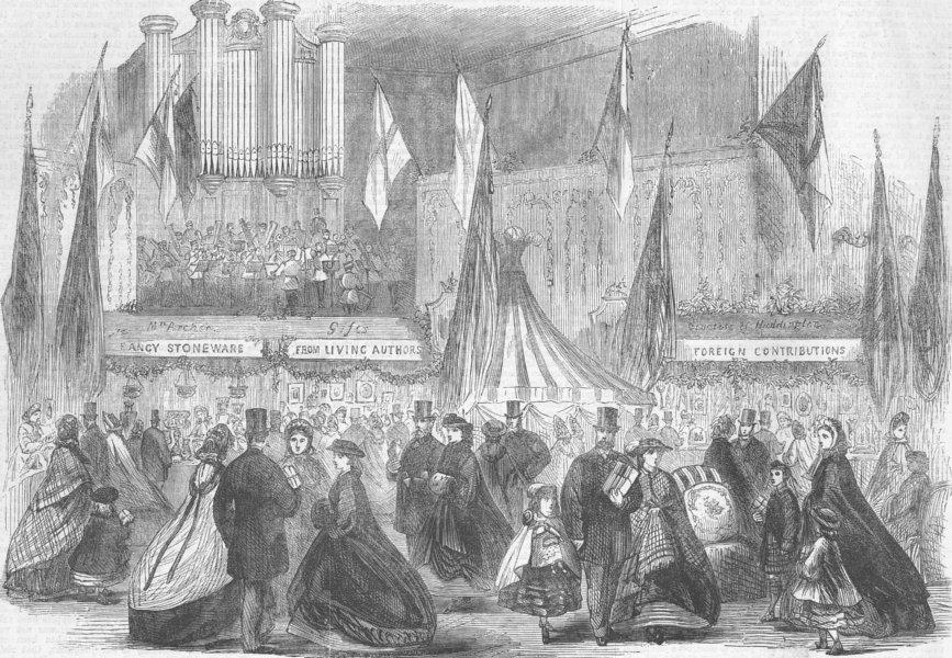 Associate Product EDINBURGH. Bazaar, music-hall for Imbecile kids, antique print, 1863