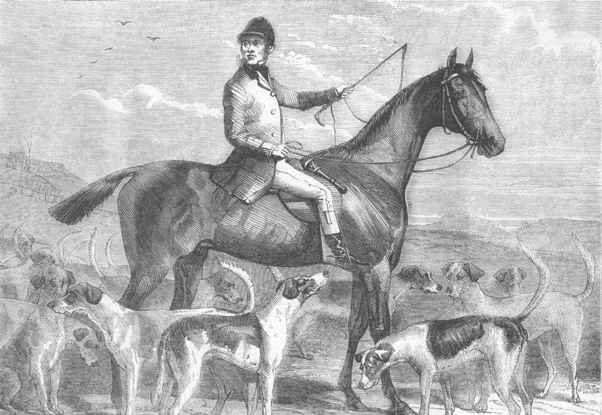 Associate Product HORSES. Buccleuch's huntsman, Williamson, Norman, antique print, 1856