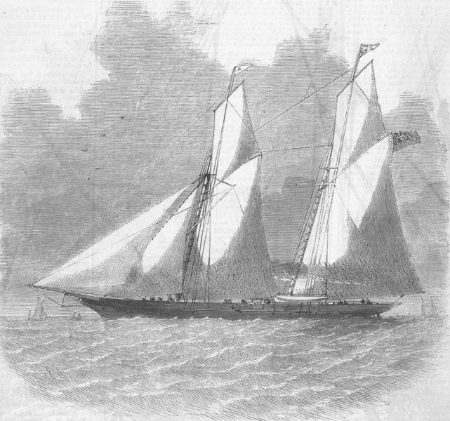 Associate Product LONDON. Norah Creina, Iron Steam-Yacht, antique print, 1859
