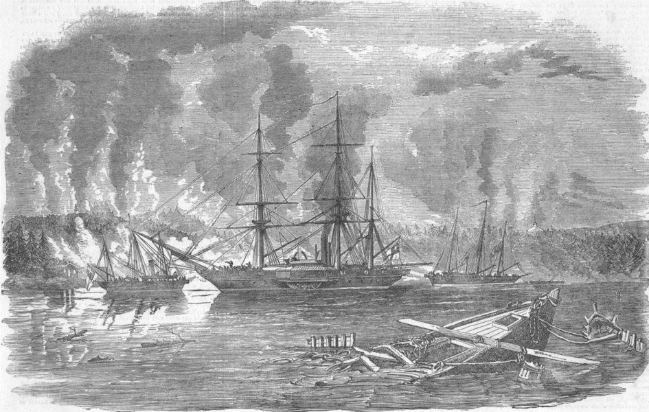 Associate Product SHIPS. Royal Navy intercepting trading, antique print, 1855