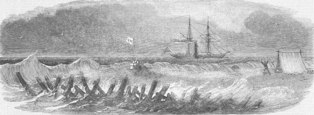 Associate Product WEST INDIES. Alban rescuing crew, Serranilla Bank, antique print, 1852