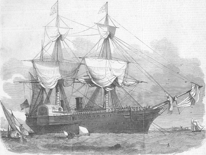 Associate Product WEST INDIES. RMS Amazon, mail ship, antique print, 1852