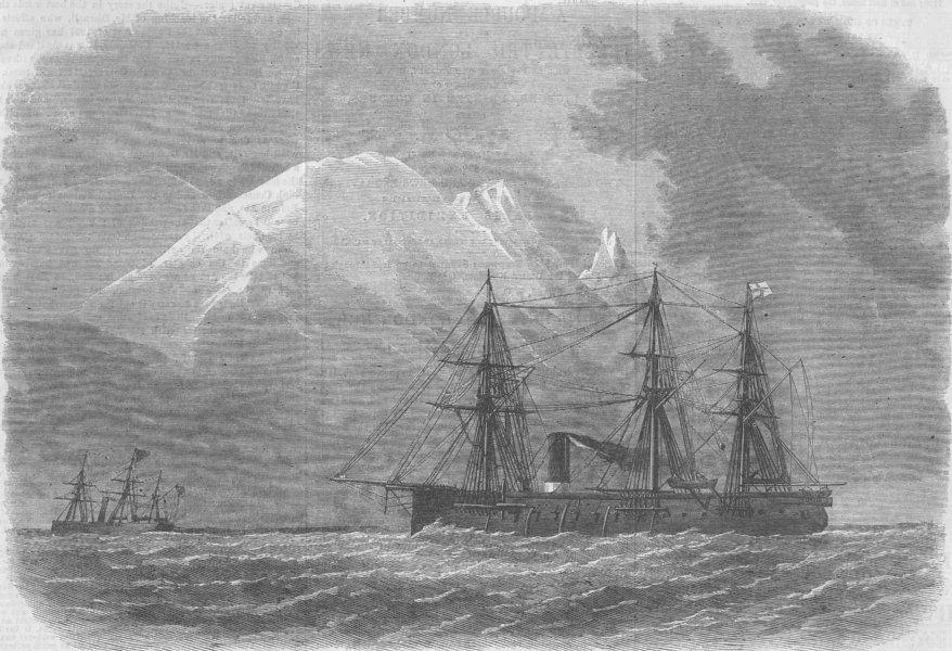Associate Product CHILE. Magellan Strait. HMS Zealous , antique print, 1867