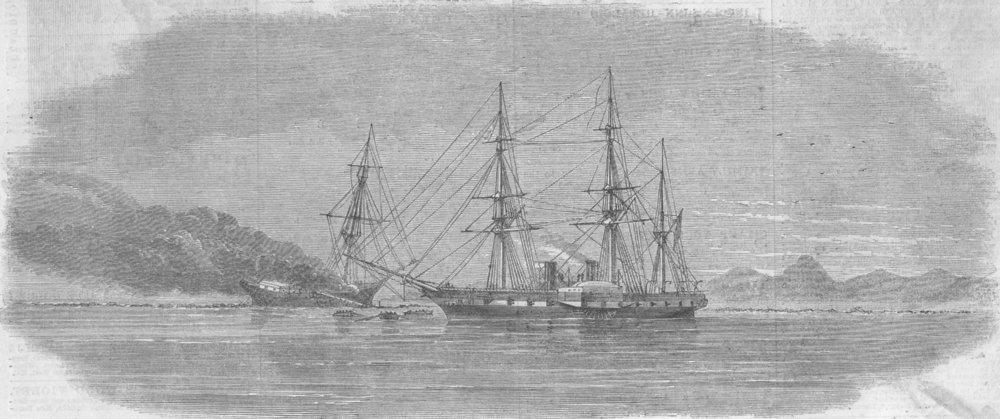 Associate Product COMOROS. Sidon, Enchantress, shipwreck, Mayotta, antique print, 1861