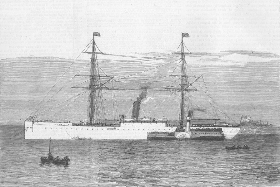 Associate Product KENT. Steamship Dublin Castle, Gravesend, antique print, 1879