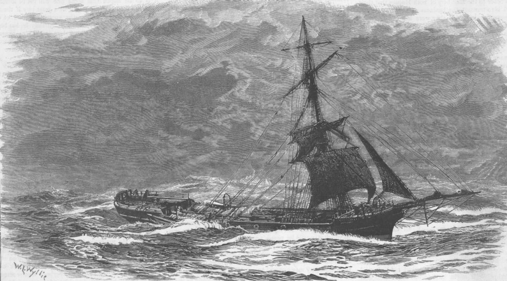 Associate Product CHILE. Northbrook after wind, Cape Horn, antique print, 1885
