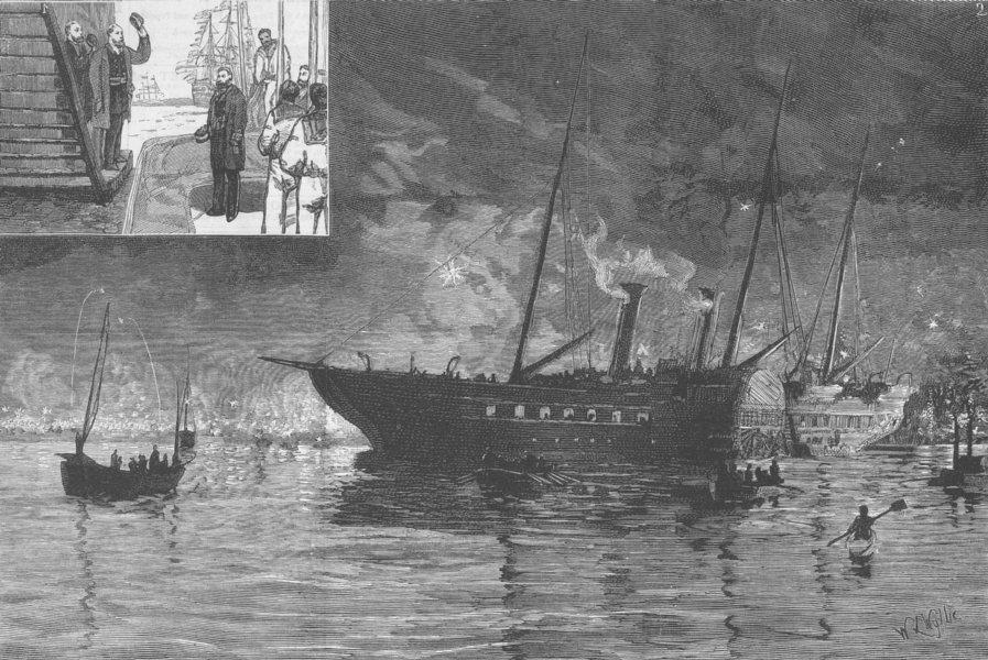 Associate Product DEVON. Eddystone keystone. Barn Pool, Mount Edgcumbe, antique print, 1879