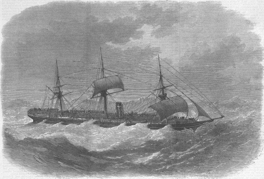 Associate Product SHIPS. Missing-ship Boston, antique print, 1870
