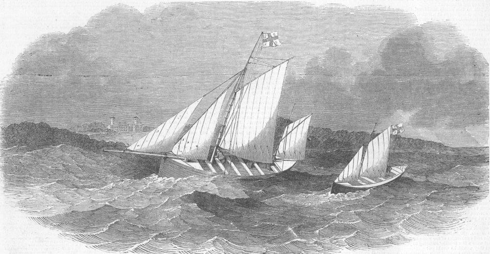 Associate Product IRELAND. Erris fishing village lifeboats, Erreter, antique print, 1851