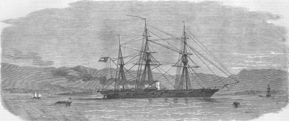 Associate Product JAMAICA. Alabama, Port Royal , antique print, 1863
