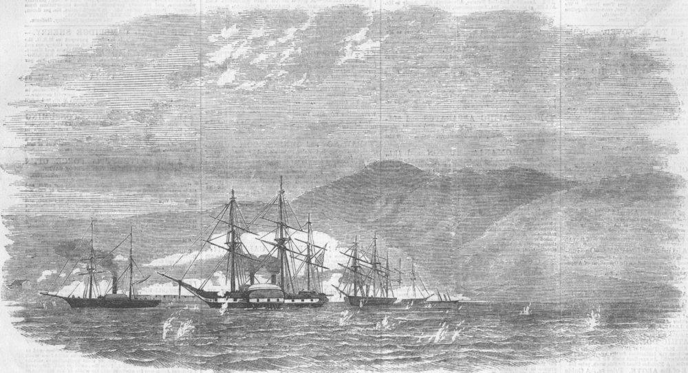 Associate Product RUSSIA. Attack on Yuzhnaya Ozereevka, antique print, 1855