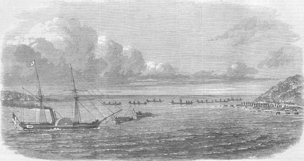 Associate Product INDIA. Expedition to Andaman Islands. Ship Pluto, antique print, 1858