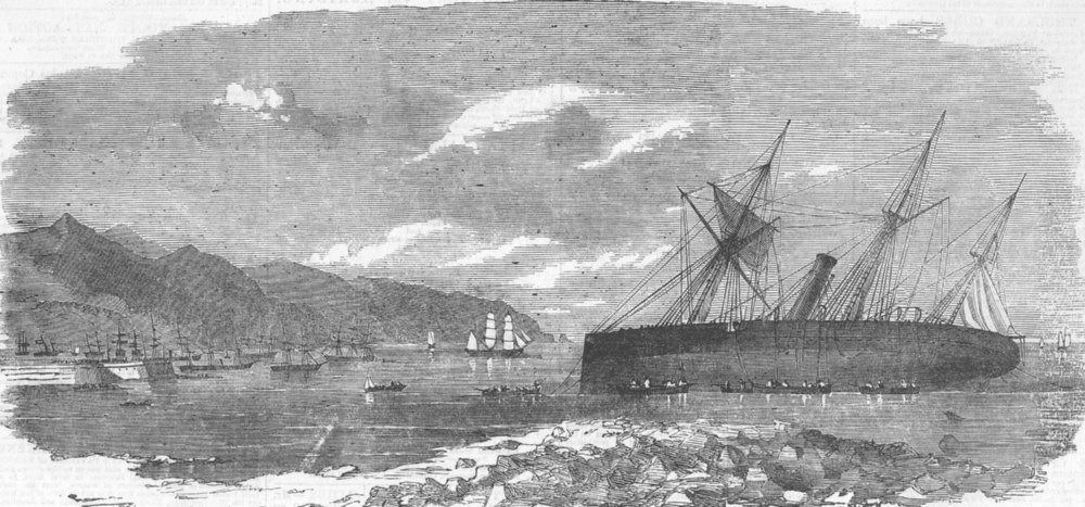 Associate Product SPAIN. Loss of Niger, Santa Cruz de Tenerife, antique print, 1857