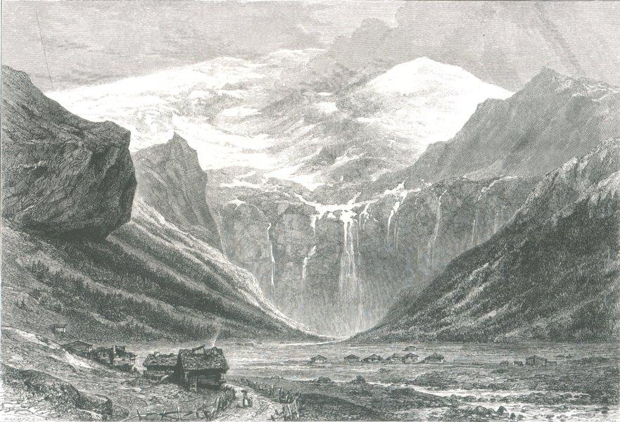 Associate Product SWITZERLAND. Plan Des Isles, Val Des Ormonds, c1880 map