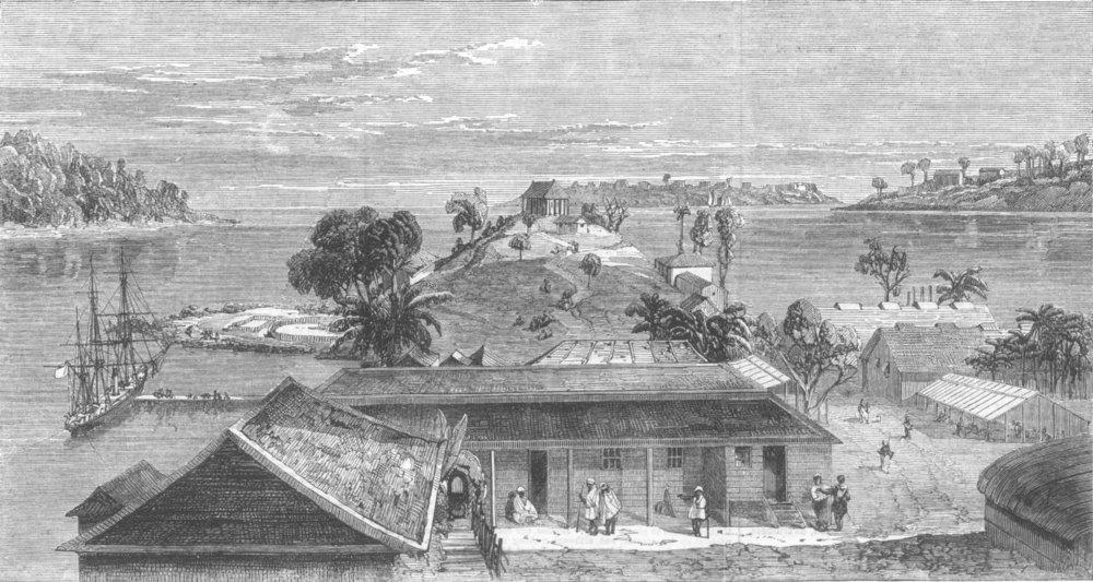 Associate Product INDIA. Port Blair, South Andaman Island, antique print, 1867