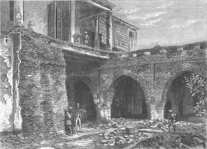 Associate Product INDIA. Part of Old Fort, Kolkata, antique print, 1869
