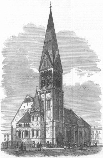 Associate Product LONDON. St Michael's Church, Kensington Park, antique print, 1872