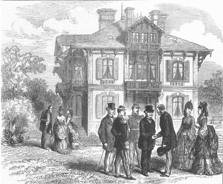 Associate Product FRANCE. Chalet Cordier, M Thiers' house, Trouville, antique print, 1872