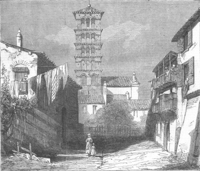 Associate Product ITALY. Church of Santa Pudentiana, Rome, antique print, 1850