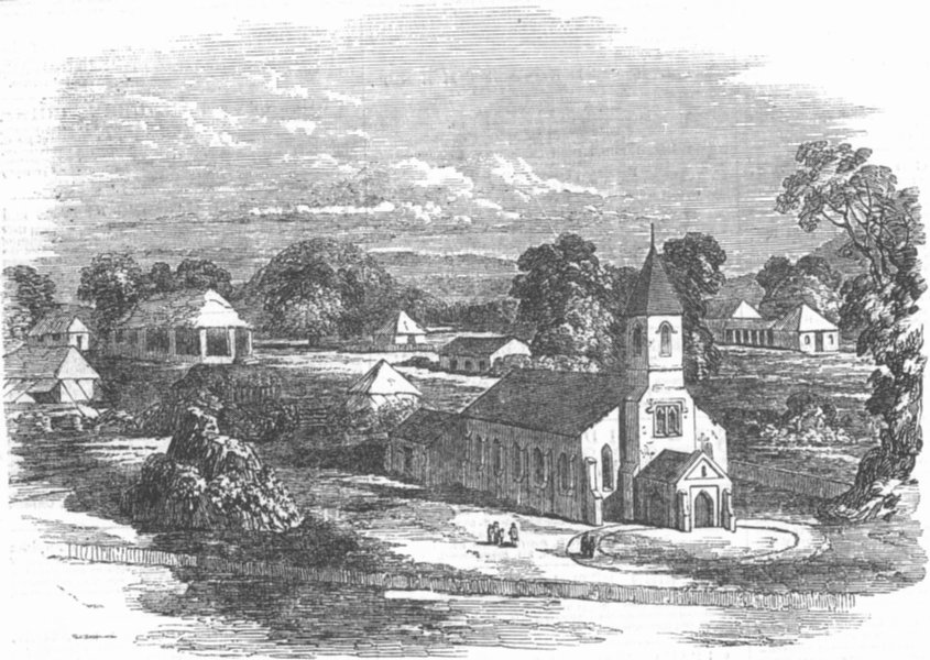 Associate Product INDIA. New Church, Mount Aboo, Rajasthan, East Indies, antique print, 1850