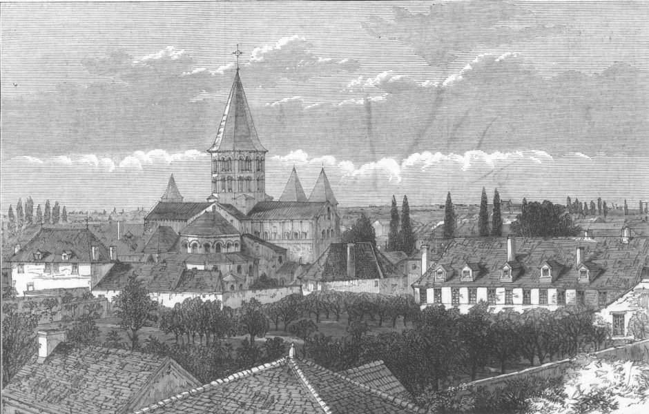 Associate Product FRANCE. Convent of Apparition, Paray-Le-Monial, antique print, 1873