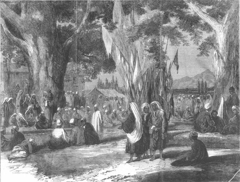 Associate Product INDIA. Hindu Festival, Kashmir, antique print, 1858