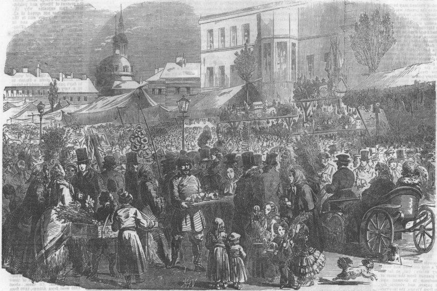 Associate Product RUSSIA. Palm Sunday, St Petersburg, antique print, 1854