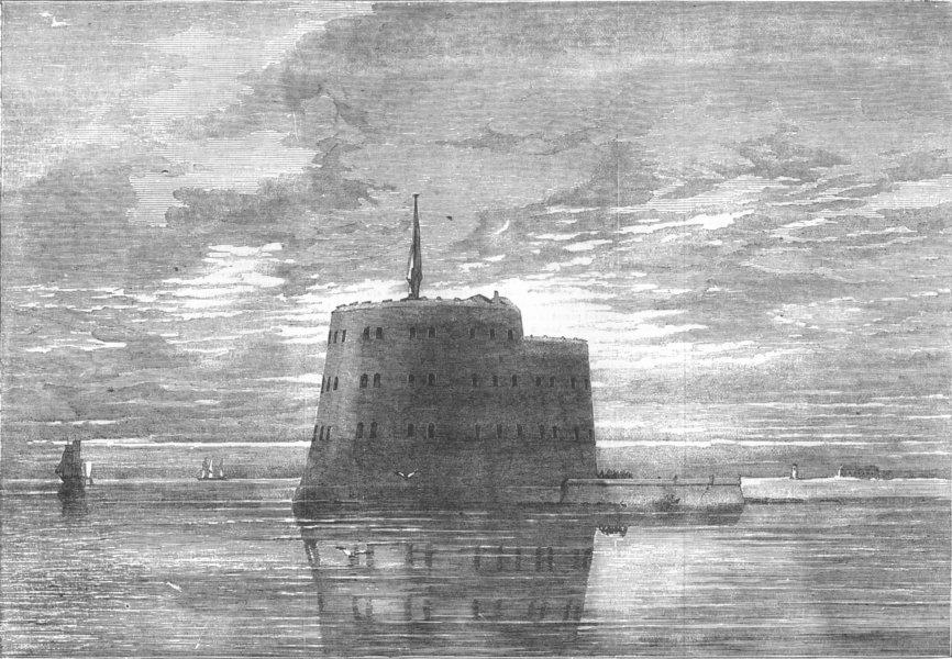 Associate Product RUSSIA. Fort Alexander, antique print, 1854