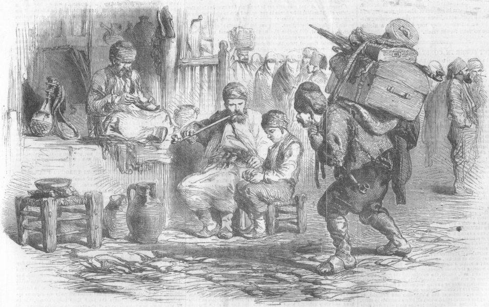 Associate Product TURKEY. Street Scene, Istanbul, antique print, 1854