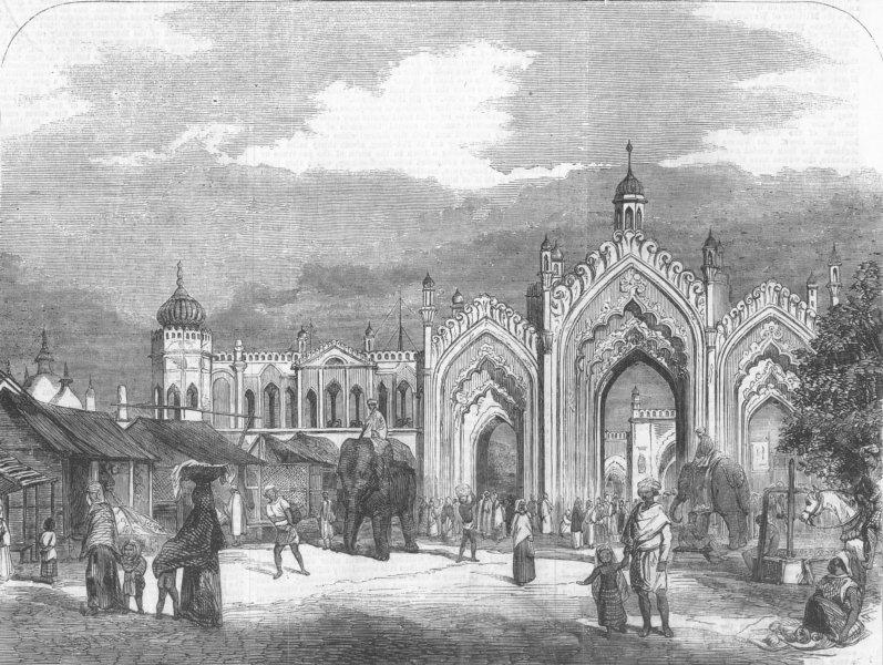 Associate Product INDIA. Gateway, Lucknow, antique print, 1857